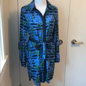 Diane Von Furstenberg button down dress